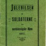 Julehilsen til soldaterne fra nordslesvigske hjem 1917