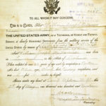 Honorable discharge from the United States Army, 9 May, 1919