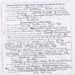 Photocopy of Particulars Required for the Roll of Honour of Australia in the Memorial War Museum