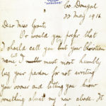 Letter from Harold Lee to Alice Grant
