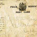 Field Service Postcard details addressed to Mrs. A. Grant.