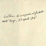 Lo zio al fronte invia lettera-testamento
