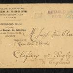 Twee brieven van Jan Baptist Van Loo met  beschrijving oorlogstoestand in Leuven