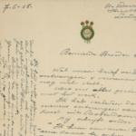 Twee kaartjes en drie brieven van Victor Van Loo