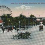 Cartolina da Vienna - K. k. Prater, Hauptallee mit Riesenrad