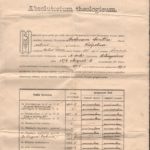 Copie legalizată a actului oficial de absolvire a Seminarului Teologic Greco-Catolic din Gherla de către Andreiu Centea
