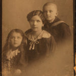 Familia lui Matheas Künstler, soţia şi cei doi copii
