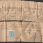 Certificat de căsătorie Johann şi Rozalia Bartha
