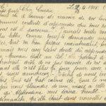 Pakketje brieven en postkaarten van 1915, item 58