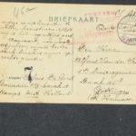 Pakketje brieven en postkaarten van 1916, item 92