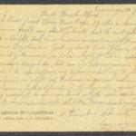Pakketje brieven en postkaarten van 1917, item 96