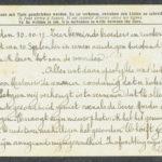 Pakketje brieven en postkaarten van 1917, item 102