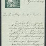 Pakketje brieven en postkaarten van 1917, item 202
