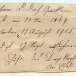 Johann Geerkens Briefwechsel mit seiner Frau bis zu seinem Tod