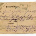 Johann Geerkens Briefwechsel mit seiner Frau bis zu seinem Tod, item 5