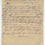 Johann Geerkens Briefwechsel mit seiner Frau bis zu seinem Tod, item 9