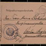 Feldpost vom Oberleutnant Hugo Protivensky an seine Frau