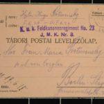 Feldpost vom Oberleutnant Hugo Protivensky an seine Frau, item 8