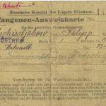 Gefangenenausweis von Philipp Tschistjakow