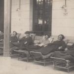 Convalescence à l'hôpital américain installé au Lycée Pasteur à Neuilly-sur-Seine (92)