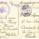 Carte postale envoyée par François Pillain, vue de Münster (verso)