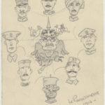 FRBNFM-077 Correspondance et dessins de Jean Kioes à sa fiancée Fernande Merlot 1914-1918