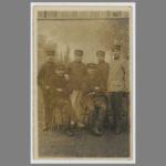 003 Photo-Carte postale d'un groupe de Marsouins dans lequel figure mon grand-père, Jean Gaubicher