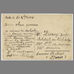 01 Carte postale chromo de Gaston Michalet à son parrain au front, le 31 décembre 1914