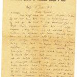 Omslag met postkaarten, foto's en brieven Clement Honoré, item 3