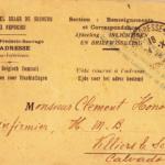 Omslag met postkaarten, foto's en brieven Clement Honoré