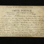 Carte postale de Léonce Desbureaux à sa femme Clémence.
